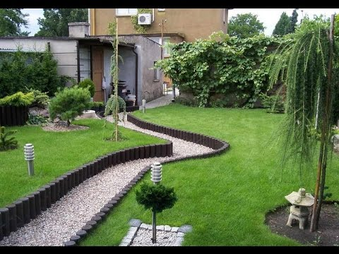 Small Yard Landscape Design - YouTube on Backyard Lawn Designs  id=26646