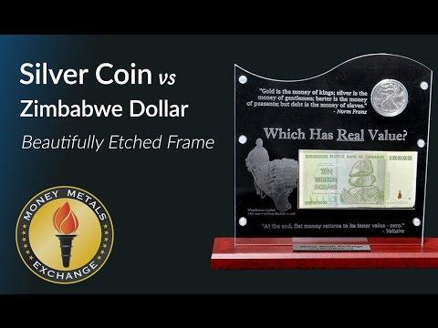 Silver Coin vs Zimbabwe Dollar Frame