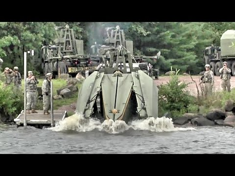 Army Engineers Build Floating Bridge – Multi-Role Bridge Company