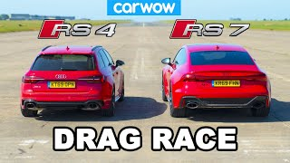 Audi RS7 vs Audi RS4: DRAG RACE