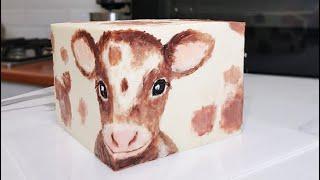 Квадратный торт торт куб рисунок кремом