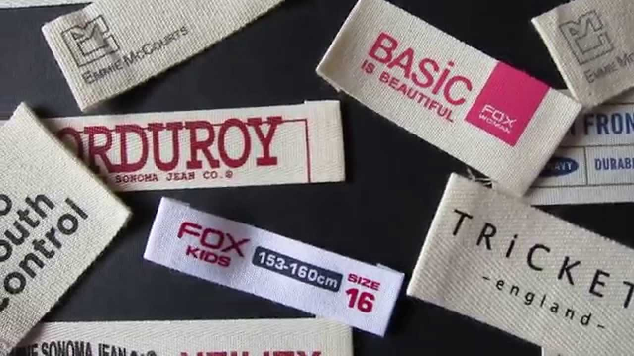 Custom Cotton Clothing Labels And Designer Clothes Labels