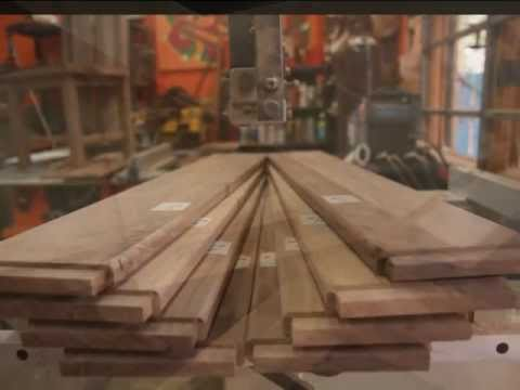 Building chairs for rustic solid walnut dining room table