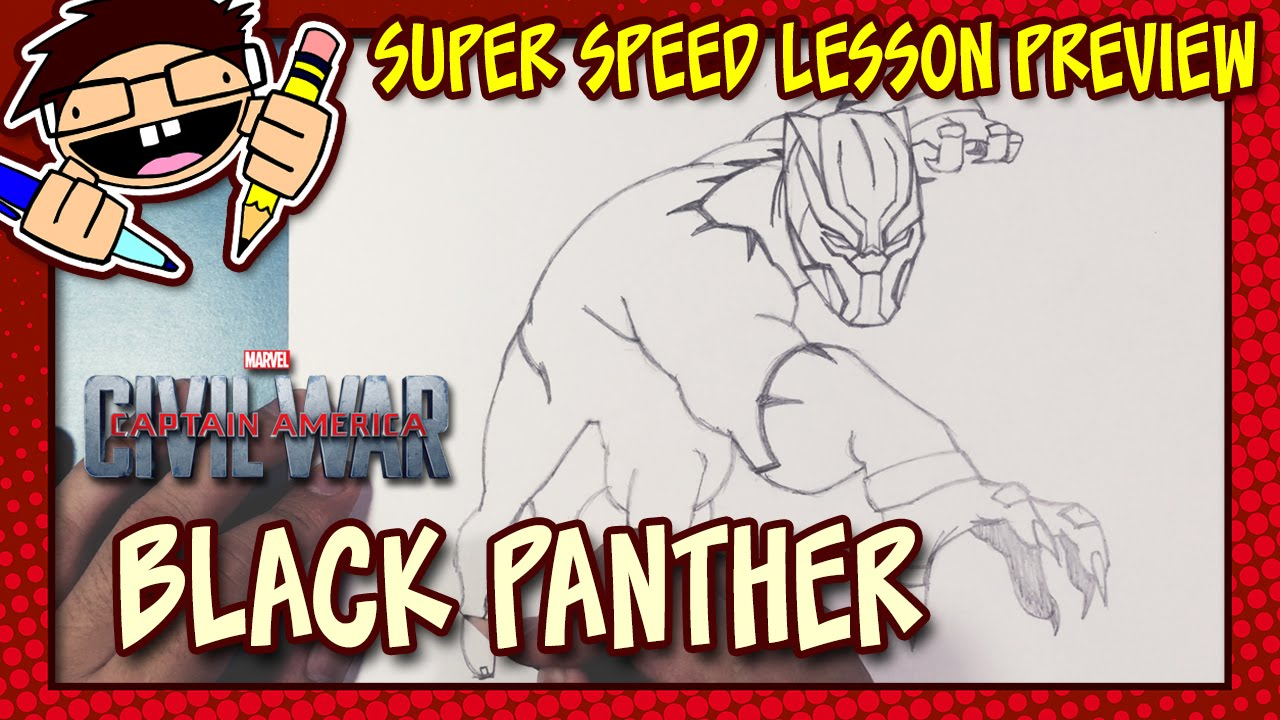 Lesson Preview How To Draw Black Panther Captain America Civil