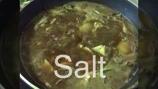Thick noodles soup ( Thai vegan )