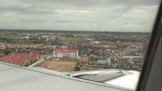 Countryside+Landing Final Destination PNH - Phnom Penh Intl Airport Cambodia - Bangkok Airways A319