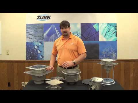 Zurn Floor Drains and Floor Sinks Z1800 Stainless Steel Industrial Drainage