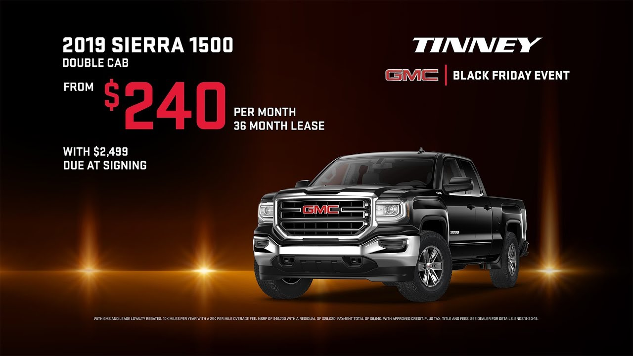 Truck Lease Deals >> 2019 Gmc Sierra 1500 Limited Lease Deals Tinney Automotive Black Friday Sale