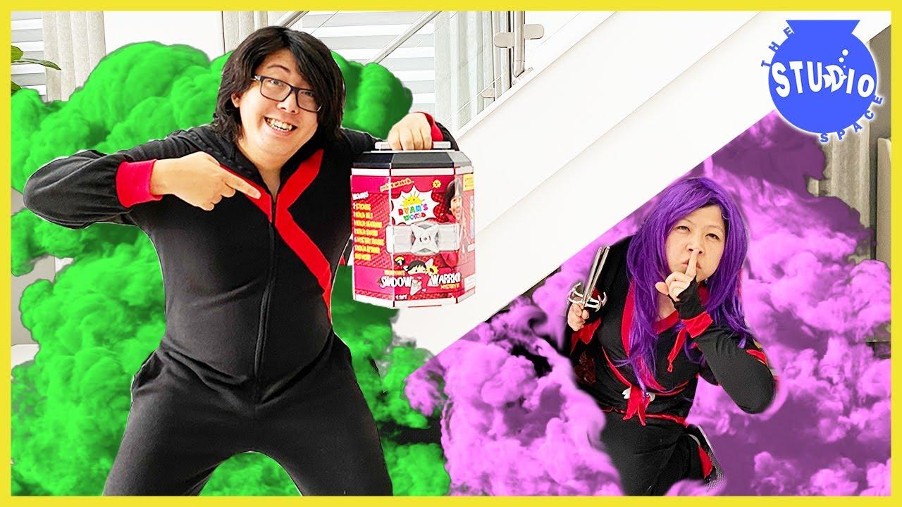 NINJA RYAN SHADOW WARRIOR MYSTERY BOX! Ryan's World Mystery Toy Surprise