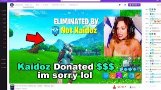 I Stream Sniped Streamers on Fortnite then DONATED...