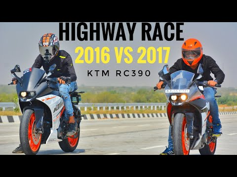 RACE | KTM RC 390 2016 VS 2017 | HIGHWAY RACE | TOP END RACE | AYUSH VLOGS