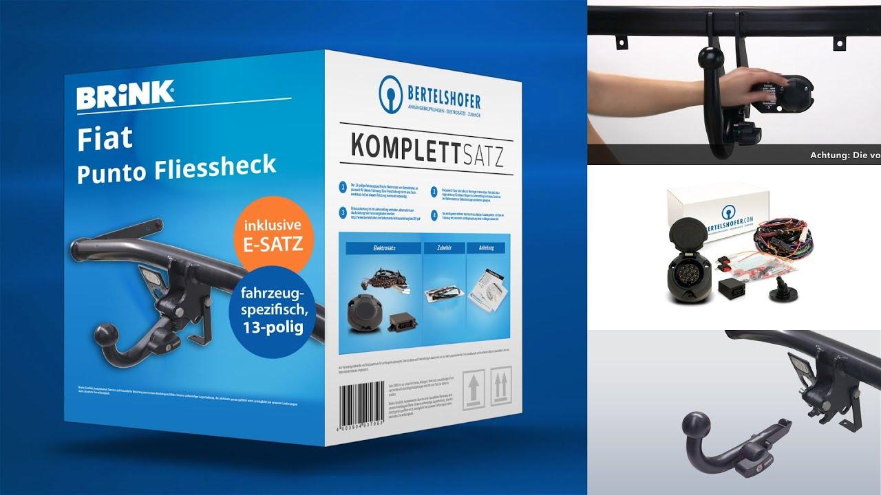 FIAT PUNTO 2012-199 Fließheck 3//5Tür AHK Abnehmbar E-satz 13Pol spezifisch