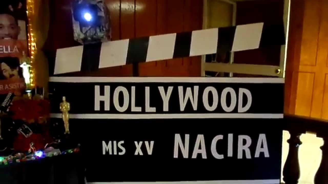 DECORACION XV AOS HOLLYWOOD  YouTube