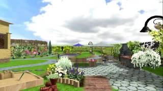 Детская площадка в Landscape Architect 3D Pro. Проект сада.