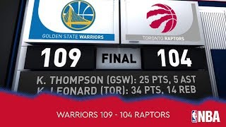 Golden State Warriors 109 - 104 Toronto Raptors