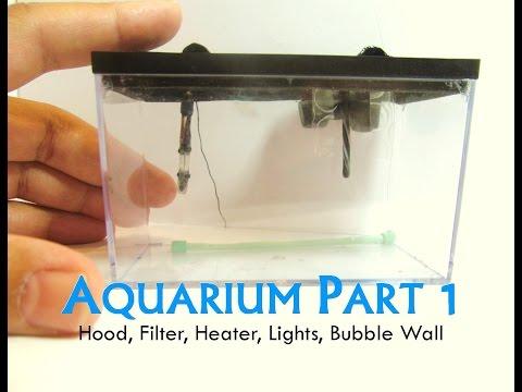 Polymer Clay Dollhouse Miniature Aquarium Part 1