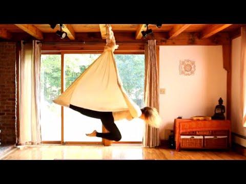 Aerial Yoga - silk hammock - Kama Fitness