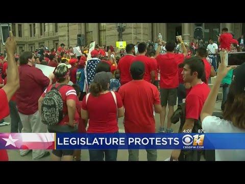 Protest Sparks Texas Lawmaker Threats Of Gun Violence