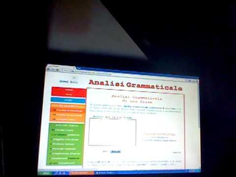 Come fare analisi grammaticali e logiche online