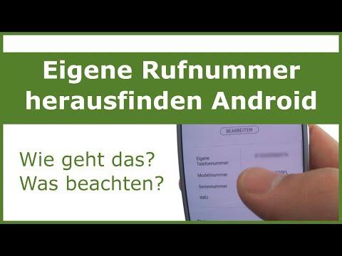 Eigene Nummer Herausfinden - Android