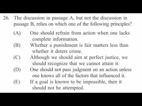 Law passage—Principles | Example | Reading comprehension | LSAT | Khan Academy