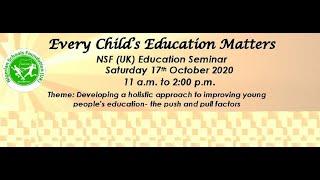 NSF(UK) Education Seminar