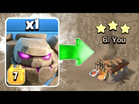 MAX LEVEL 7 GOLEMS vs WAR!! - WHAT WILL THE OUTCOME BE!? - Clash Of Clans