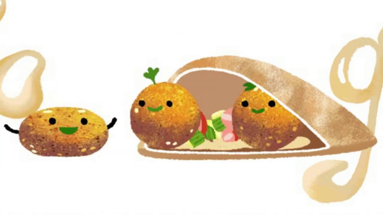 Google Doodle has a ball (or three) with falafel
