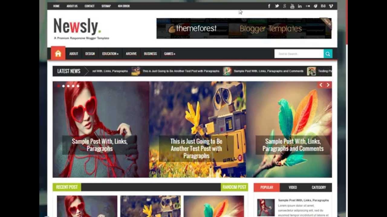 Download Template Blogspot Newsly Responsive Multipurpose Free