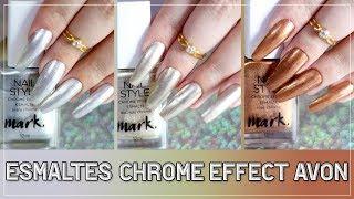 Revew do esmaltes Chrome Effect da Avon - Nill Art