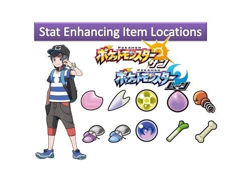 Pokemon Sun And Moon - Stat Enhancing Item Locations
