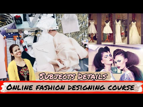 Online Fashion Designing Courses Fashion Designer Course Online Fashiondesigning Subject Details Youtube