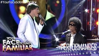 "Your Face Sounds Familiar: Kean Cipriano as Paul McCartney and Stevie Wonder - ""Ebony and Ivory"""