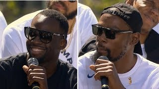 Draymond Green & Kevin Durant Interview / Warriors Championship Parade / June 12, 2018