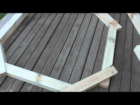 Деревянная клумба 8-гранник. Часть 1 - стыковка деталей.