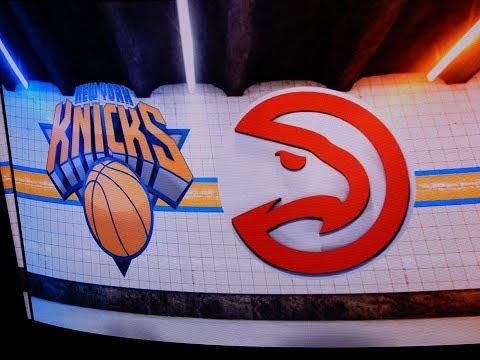 New York Knicks vs Atlanta Hawks Starting Lineups 12/10/2017