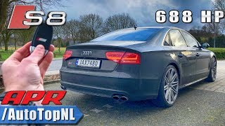 AUDI S8 APR Tuned REVIEW POV Test Drive on AUTOBAHN & ROAD by AutoTopNL