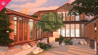 Japanese Rustic Lake House | #SakuraSquad | The Sims 4: Speed Build