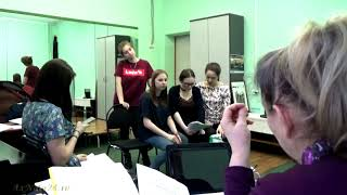Сценическая подготовка.Репетиции. Спектакль по пьесе И.А.Крылова Урок дочкам