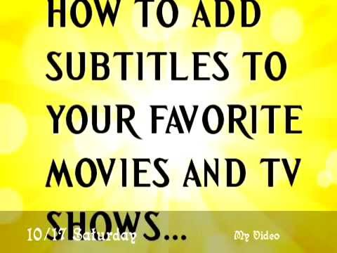 How to add subtitles to any movievideo clipstv shows youtube how to add subtitles to any movievideo clipstv shows ccuart Images
