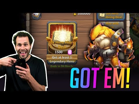 200,000 Gems 1500 BIG BOY ROLLS For Ripper FINALLY! Castle Clash