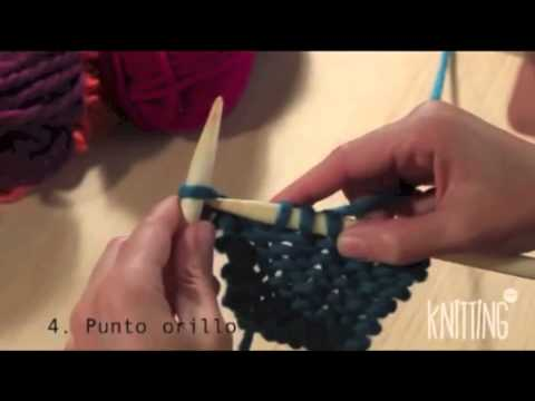 4. How to knit the first and the last stitch of the row. Learn to knit with Knitting Point.
