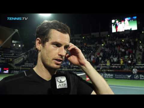 Murray Talks SF Win Against Pouille In Dubai