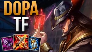 DOPA TWISTED FATE 70% WIN RATE IN KOREAN CHALLENGER | TWISTED FATE MID GAMEPLAY | Patch 9.6 S9
