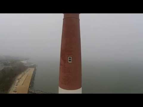 Ol Barney Barnegat Lighthouse New Jersey - LBI Aerial Video