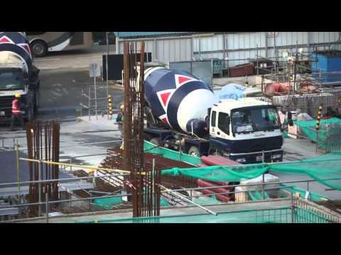 Singapore, Construction Site, Cement Truck