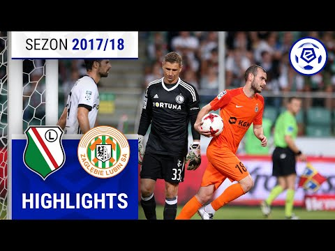Legia Warszawa - Zagłębie Lubin 2:1 [skrót] Sezon 2017/18 Kolejka 07