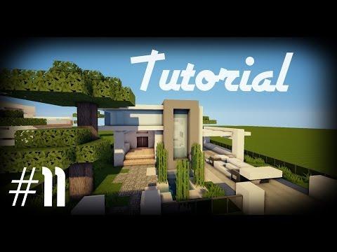 Minecraft como hacer una casa moderna 15 funnydog tv for Como disenar una casa moderna