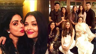 Sridevi's GRAND Birthday Party 2017 Full Video HD   Aishwarya Rai,Rani Mukerji,Rekha,Karan Johar