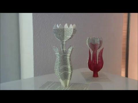 diy tulpe blume aus buchseiten dip dye deko trend 2015 youtube. Black Bedroom Furniture Sets. Home Design Ideas